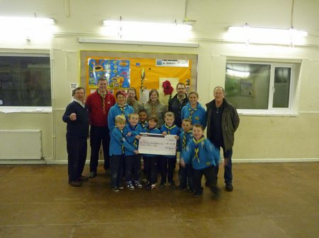 Scouts and cheque