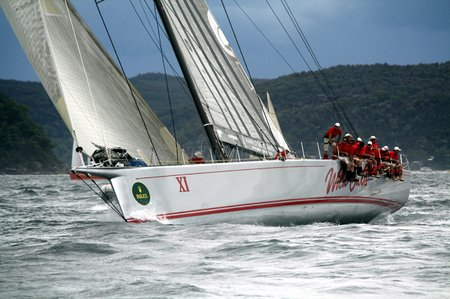 Wild Oats XI line honours winner of the 2010 Pittwater to Coffs Harbour race low resby Damian Devine