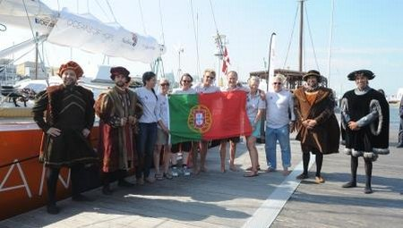 Four Portuguese explorers welcome the crew of Oceans of Hope to Lisbon DSC 5734