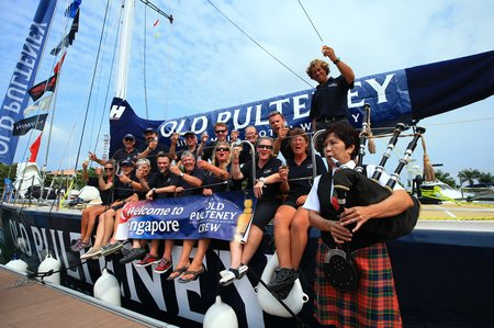 Old Pulteney arrive in Singapore