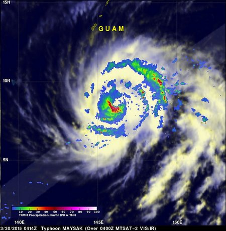 maysak trmm tmi pr 30 march 2015 0414 utc